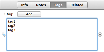 Batch-adding tags in the Tags tab.