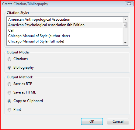 mastering zotero create bibliography from items